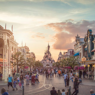 Disneyland parks, Paris, France - One summer night